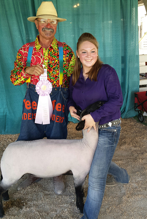 gc erin falkenstien with the sheep Google and rodeo clown cfyvl 15