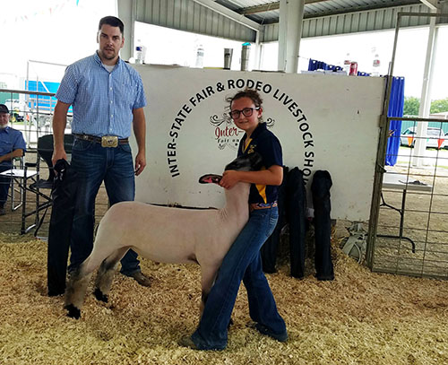 Vinita youth wins grand champion at ISFR sheep show